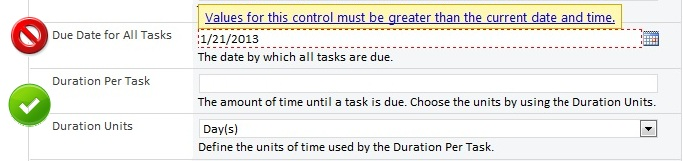 Due Date vs. Durations